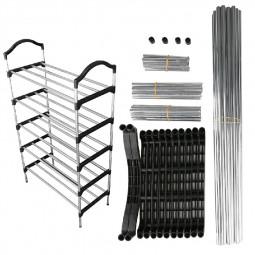 5 Tiers Shoe Storage Rack Non-woven Fabric Organizer Shelf for 15 Shoes DIY.