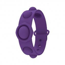 Simple Dimple Push Bubble Fidget Bracelet Portable Sensory Product Stress Relief - Purple