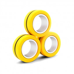 Magnetic Bracelet Ring Unzip Magical Ring Props Tools Decompression products Anti-Stress - Yellow