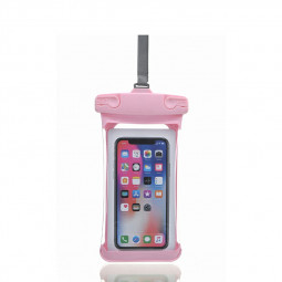 Universal 7.2 inch Waterproof Three-dimensional E Type Phone Pouch Glowing Bag - Pink