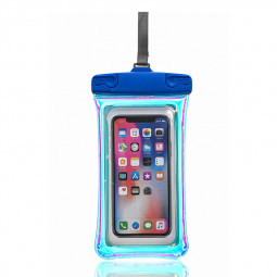 Universal 7.2 inch Waterproof Phone Pouch Glowing Bag - Blue