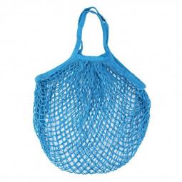 Reusable Mesh Net Turtle Bag Braided Shopping Fruit Storage Handbag Totes - Blue