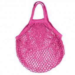 Reusable Mesh Net Turtle Bag Braided Shopping Fruit Storage Handbag Totes - Rose Red