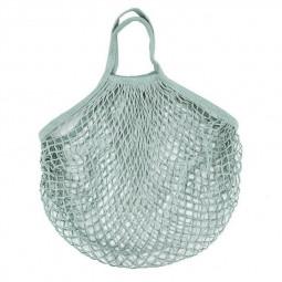 Reusable Mesh Net Turtle Bag Braided Shopping Fruit Storage Handbag Totes - Grey