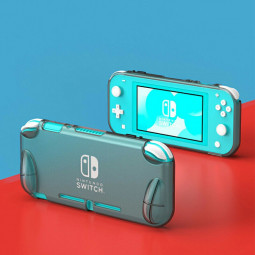Nintendo Switch Lite TPU bumper Protective Case - Transparent Black