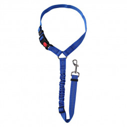Headrest Anti Shock Pet Dog Car Seat Belt Bungee Lead Travel Safety Harness - Blue