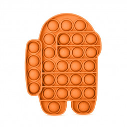 Pop it Fidget Board Among Us Pop it Easy Carry Durable and Fun - Orange