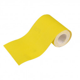One Piece Yellow Sandpaper Roll Sanding Strips 5m x 9.3cm - Grit P180