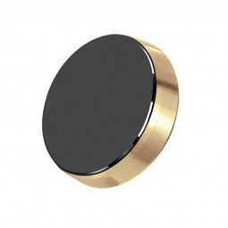 Magnetic Metal Car Dashboard Mount Universal Phone GPS Holder Stand - Golden