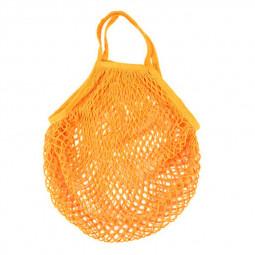 Reusable Mesh Net Turtle Bag Braided Shopping Fruit Storage Handbag Totes - Orange