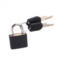 Mini Padlock Students Bag Travel Luggage Suitcase Drawer Locks with 2 pcs Keys - Black