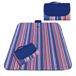 Waterproof Picnic Blanket Camping Mat Outdoor Beach Hiking Park Grass Travel Rug - Royal Blue