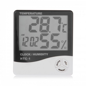 Indoor LCD Clock Digital Humidity Hygrometer Thermometer Temperature Meter
