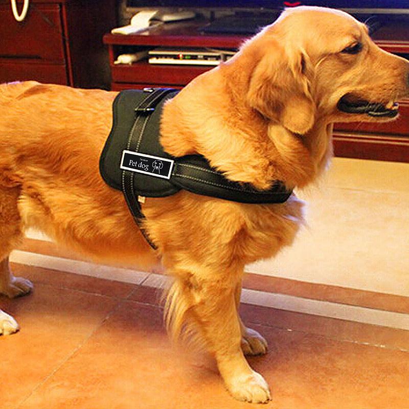 Dog Adjustable Control Soft Vest Harness Walk Collar Chest Strap Vest - Black S