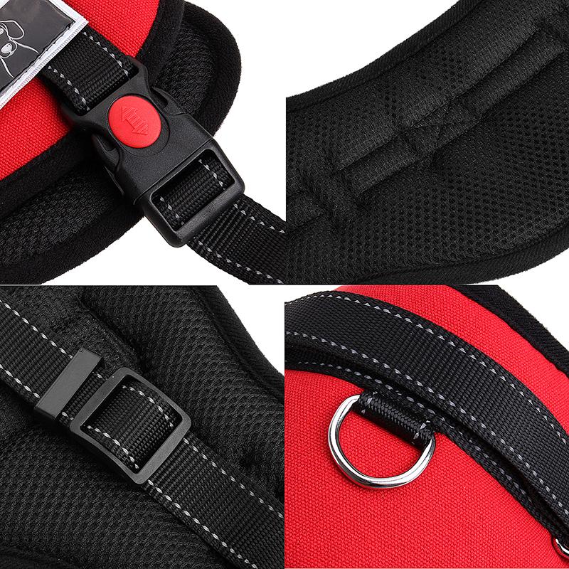 Dog Adjustable Control Soft Vest Harness Walk Collar Chest Strap Vest - Red XL