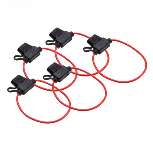 5pcs Waterproof In Line standard Blade Fuse Holder car boat