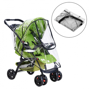 Universal Baby Car Infant Stroller Rain Dust Shield Cover with Zipper
