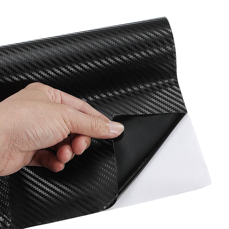 3D Carbon Fiber Vinyl Film Wrap Sheet Auto DIY Sticker Car Decal - Black
