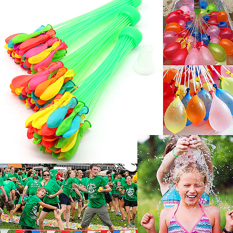111 pcs Fast Fill Magic Water Balloons Self Tying Bunch O Balloon Bombs Summer Toys Assorted Colour