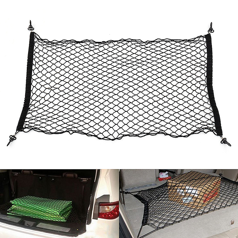 110x50cm Car Cargo Tidy Net Boot Trunk Storage Organizer Luggage for SUV Hatchback - Black