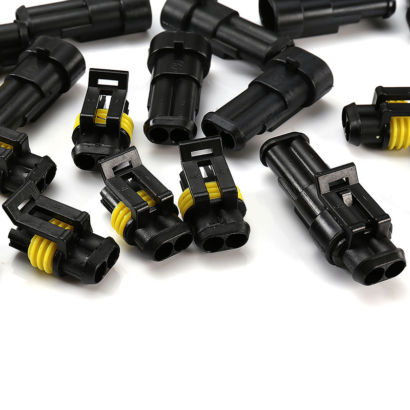 10pcs 2 Pin Way Super Seal Waterproof Electrical Wire Connector Plug for Car