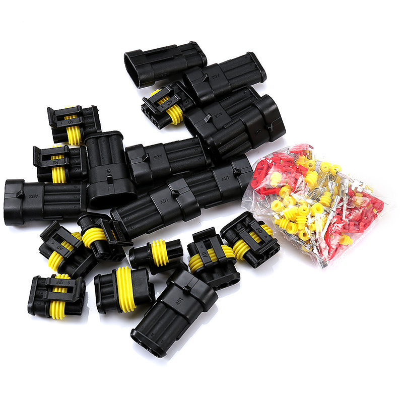 10pcs 3 Pin Way Super Seal Waterproof Electrical Wire Connector Plug for Car