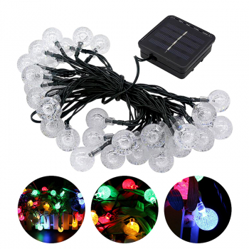 6.5M 30 LED Bubble Ball Shaped Solar Powered Christmas LED String Lights - Colorful