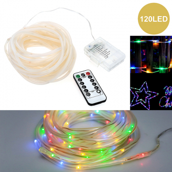 Battery Operated 120 LED String Lights with Remote Controller for Christmas Party