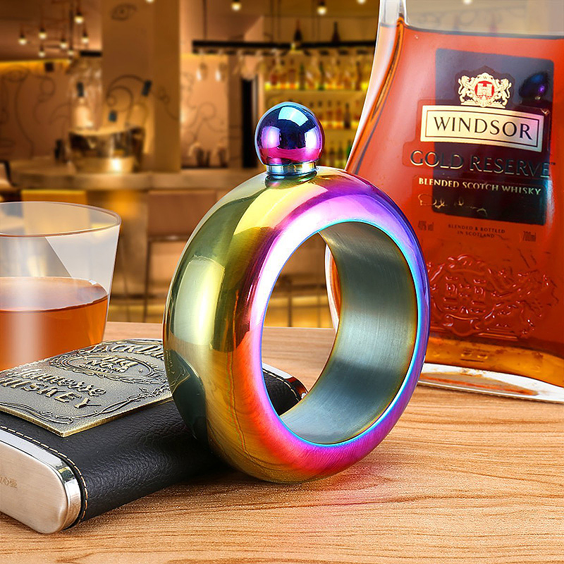Bracelet Flask Creative Hidden Stainless Steel Wine Bangle with Funnel - Multicolor