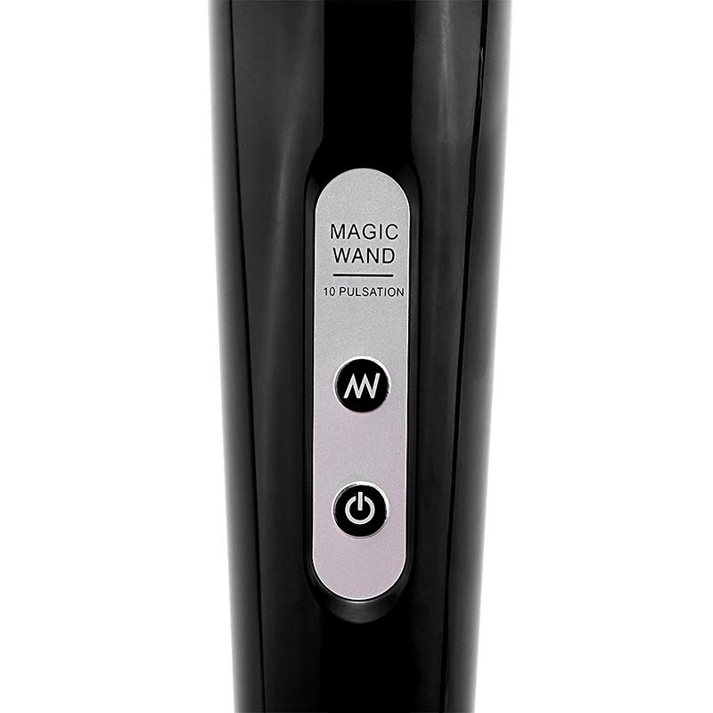 Magic Wand Wired Full Body Sports Powerful Massager 30 Vibrating Speed Setting UK Plug - Black