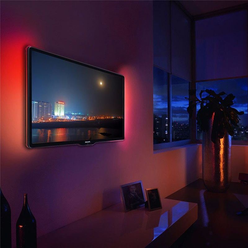 3M USB LED Strip Light TV Back Lamp 5050 RGB Color Changing + Remote Control