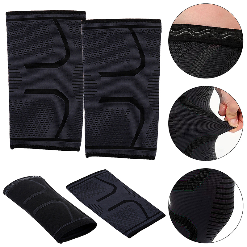 1 Pair Self-Heating Anti-slip Knee Support Pad Arthritis Brace Protective Belt Black - Size M