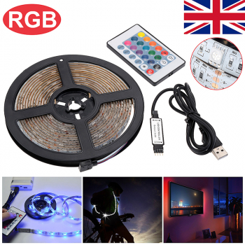 3M USB LED Strip Light TV Back Lamp 5050 RGB Color Changing + Remote Control