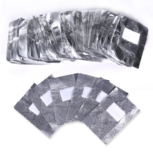 100pcs Nail Art Soak Off Remover Polish Acrylic Removal Foil Paper Wraps - Frosted