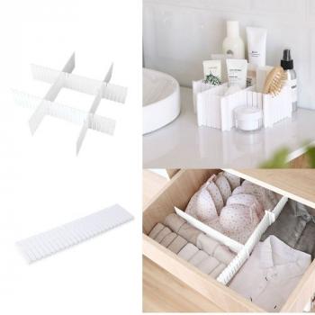 4Pcs Adjustable Clapboard Drawer Organizer Divider Partition Storage Wardrobe Plastic Clapboard