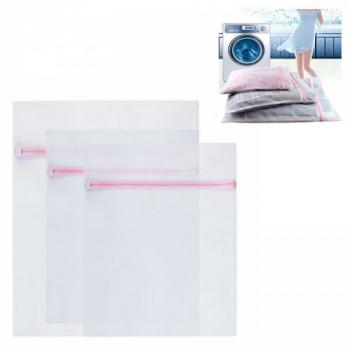 3x Laundry Washing Mesh Net Zipped Lingerie Underwear Bra Clothes Wash Bag