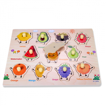 Wooden Animal Letter Puzzle Jigsaw Early Learning Educational Toys - S906