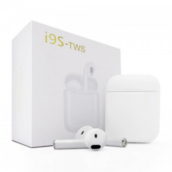 i9S TWS Bluetooth5.0 Headphones Twins Wireless In-Ear Stereo Earphones Earbuds Headset for iPhone/IOS Android - White