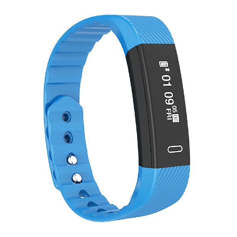 Bluetooth Smart Sport Bracelet Wrist Watch Touch Screen for iOS Android - Blue