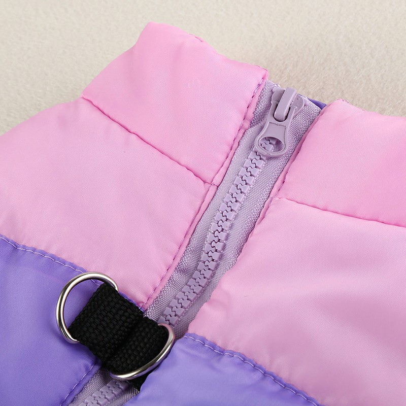 Comfy Pet Dog Cat Puppy Winter Coat Pulling Buckle Warm Vent Jacket - Size M