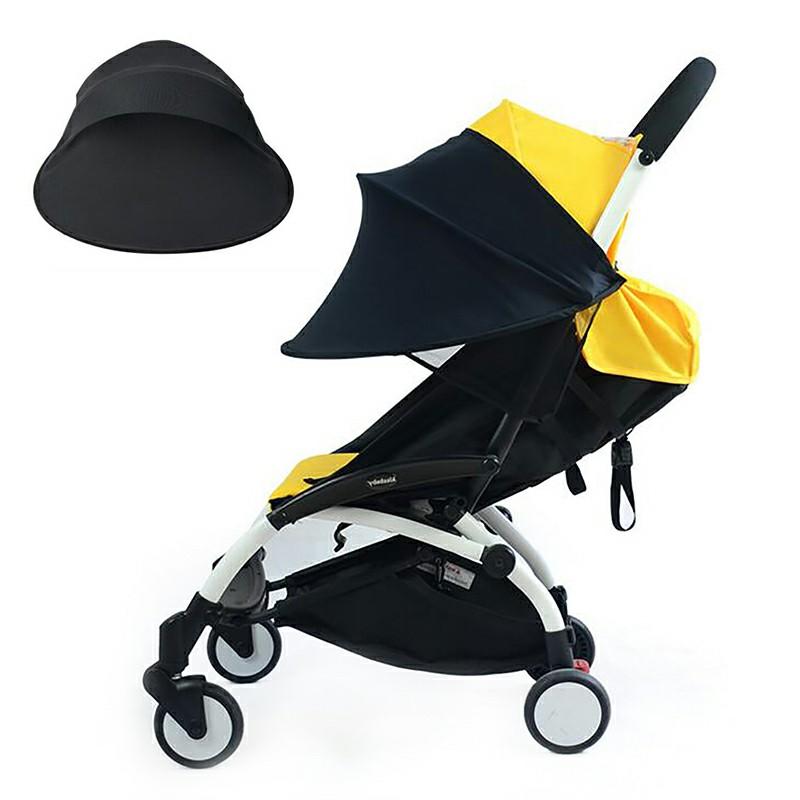 Carriage Sun Shade Canopy for Car Seat Pushchair Pram Jogger Stroller - Black