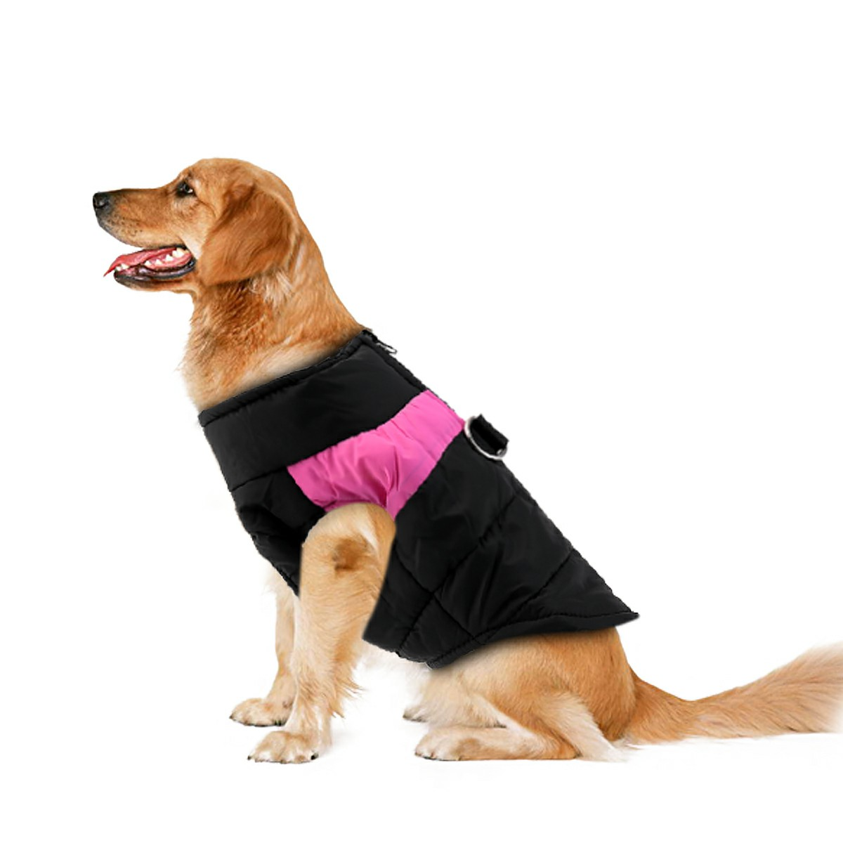 Pet Puppy Dog Warm Insulated Padded Coat Thick Winter Puffer Jacket Vest for Pets Size M - Pink