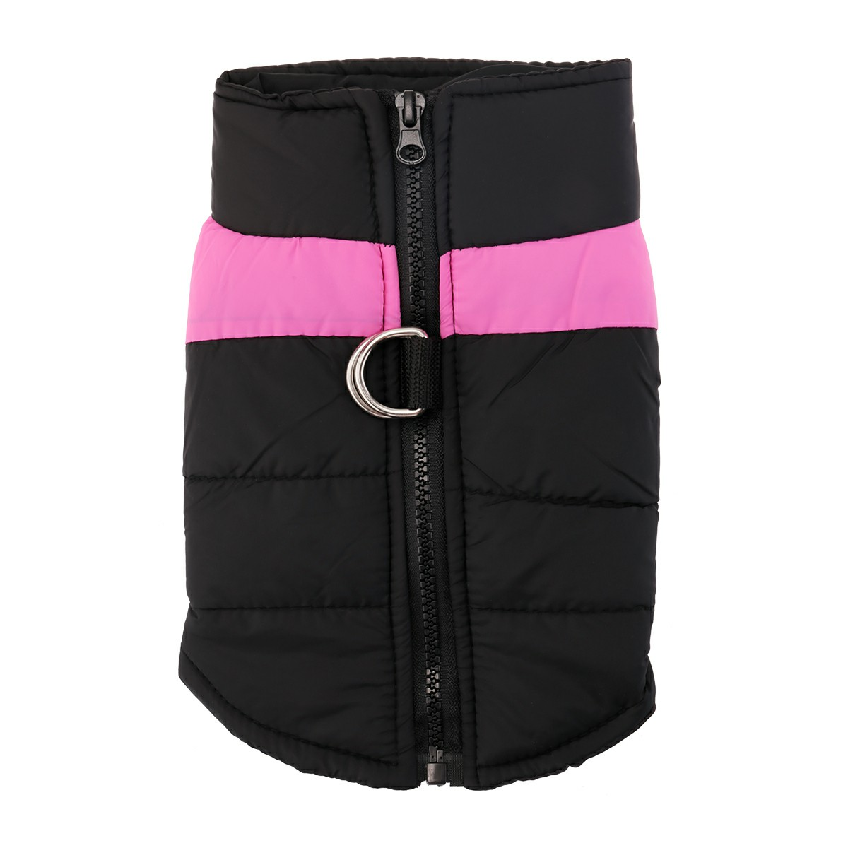 Pet Puppy Dog Warm Insulated Padded Coat Thick Winter Puffer Jacket Vest for Pets Size XL - Pink