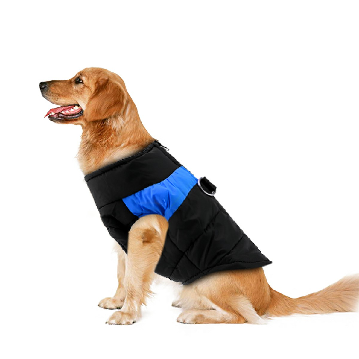 Comfy Soft Dog Vest Jacket Winter Waterproof Padded Pet Clothes Warm Vest Coat Size M - Blue