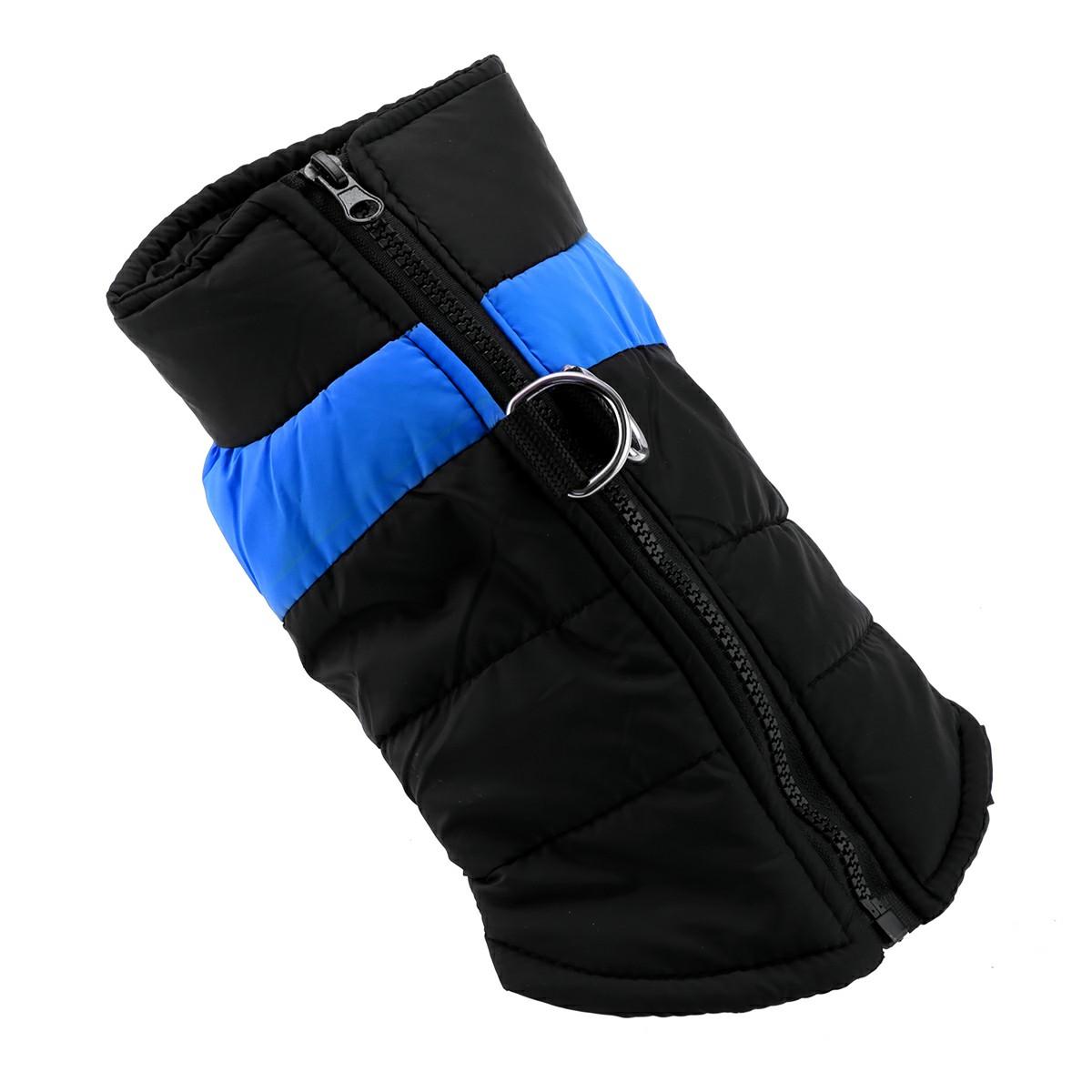 Comfy Soft Dog Vest Jacket Winter Waterproof Padded Pet Clothes Warm Vest Coat Size L - Blue