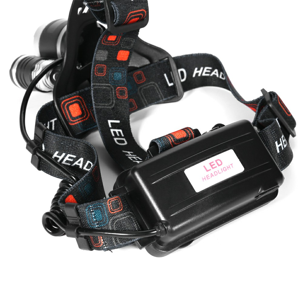6000LM 3 x XML CREE T6 LED Rechargeable Head Torch Headlamp Lamp Light with Charger