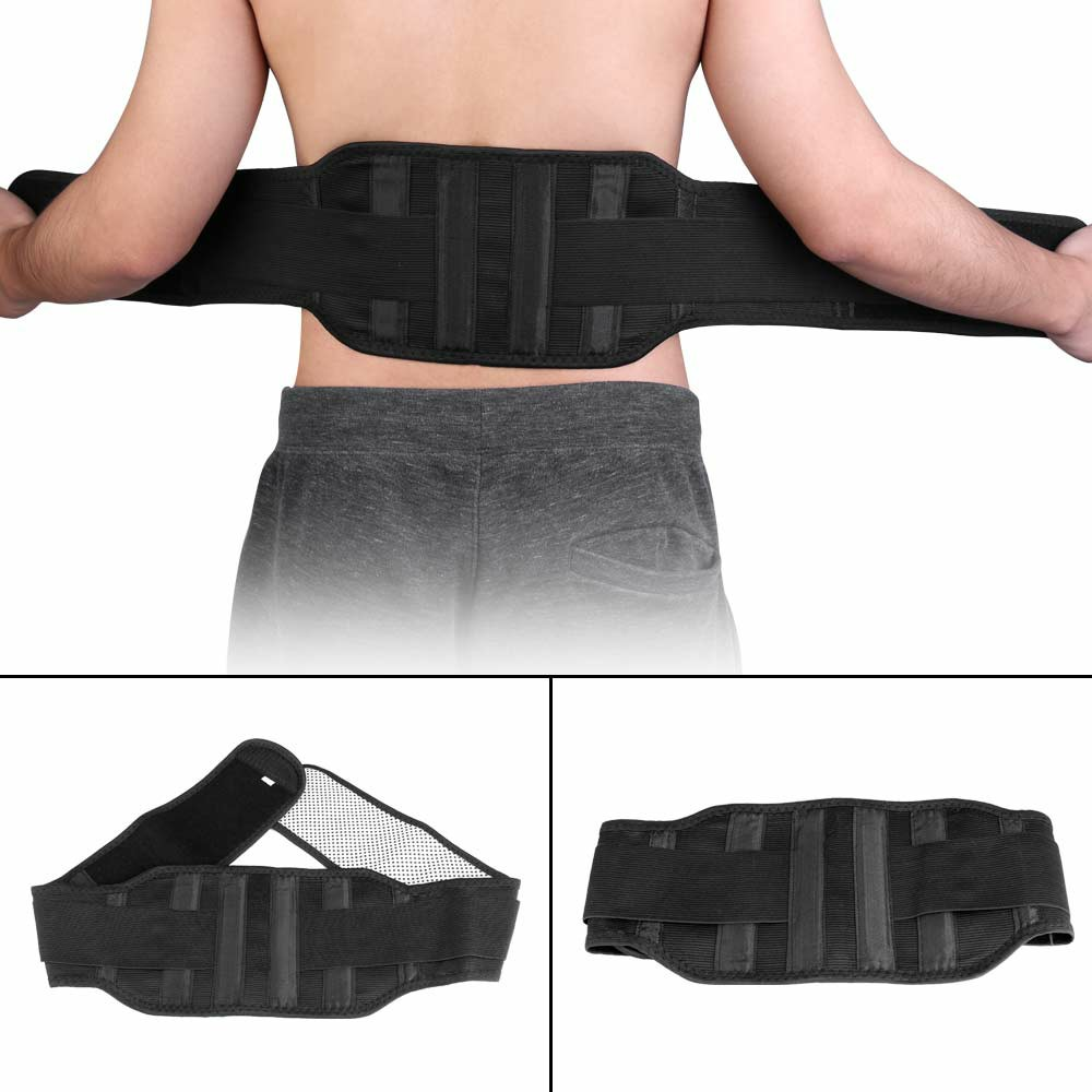 Magnetic Back Support Belt Marlene Self-heating Belt Lower Lumbar Brace Strap Fitness Bodybuilding Training Belt - M