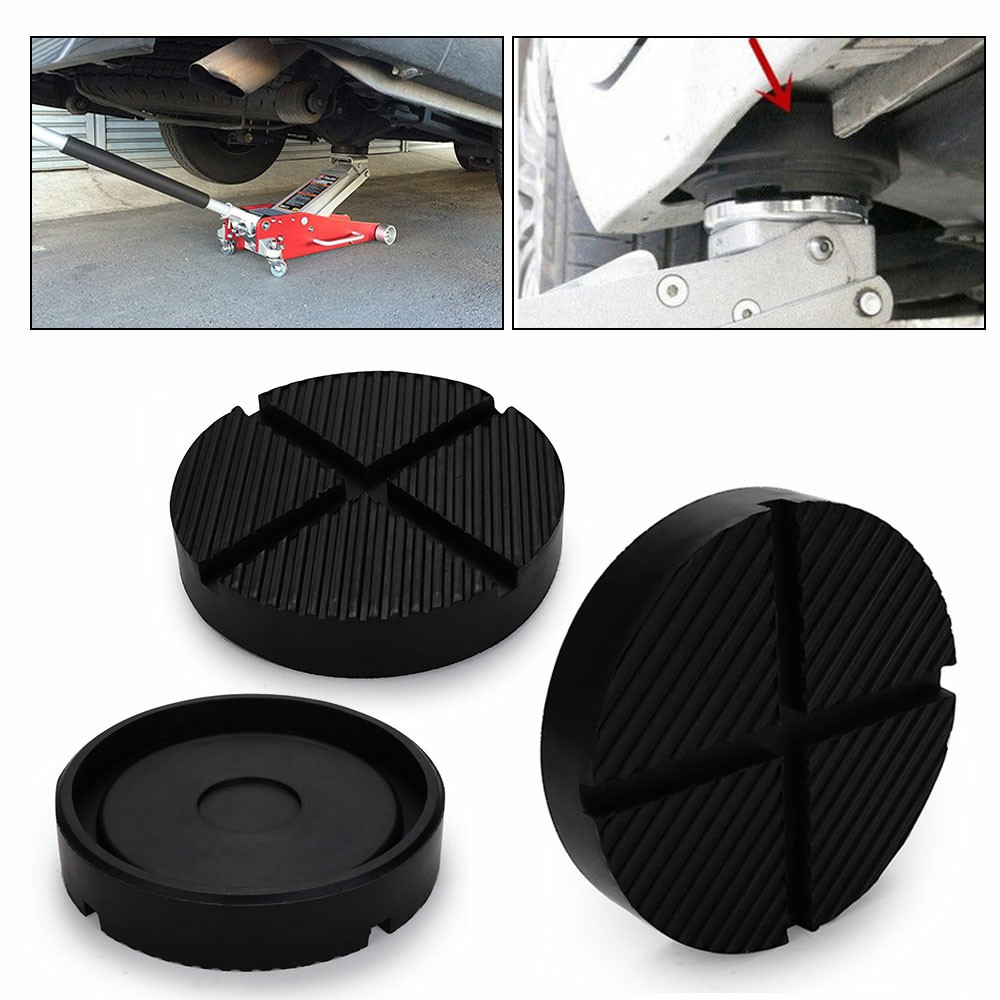 Classic Car Rubber Pad Slots Jack Hydraulic Ramp Jacking Tool Trolley Jack Support Block - 125x25mm