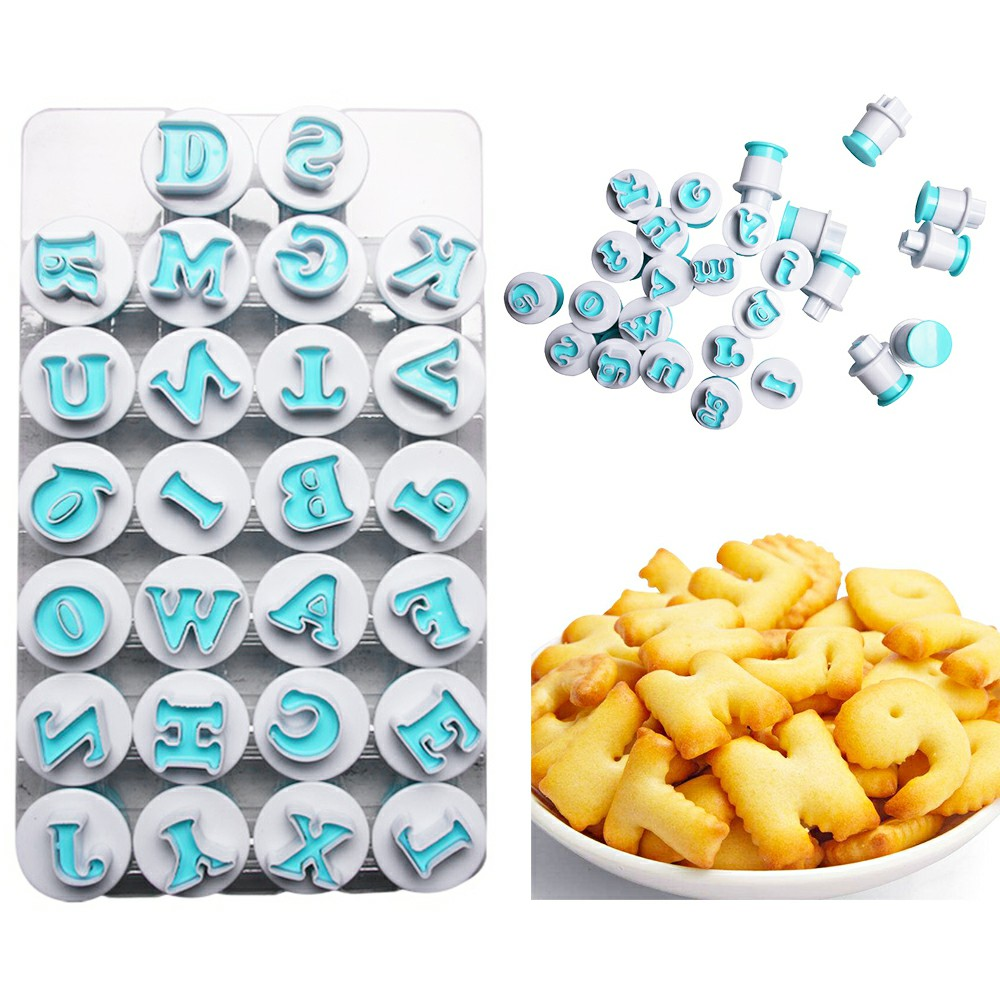 Alphabet Number Letter Cookie Biscuit Stamp Mold Cake Cutter Embosser Mould Tool - Uppercase Letter