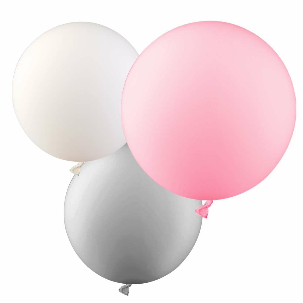 5 Pieces Round Latex Balloons 36 inches Wedding Decor Helium Big Large Giant Ballons for Wedding Festival - White